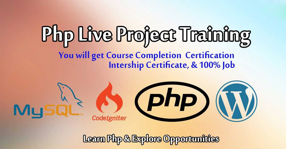 PHP LIVE PROJECT TRAINING WITH JOB PLACEMENT